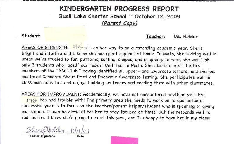 Sample Comments On Math Progress Report / Risvegliato dai